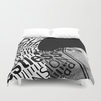 anxiety Duvet Covers featuring Anxiety by Callen Guidry