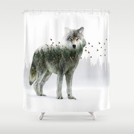 Wild I Shall Stay | Wolf Shower Curtain