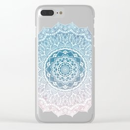 VINTAGE SPRING LACE MANDALA Clear iPhone Case