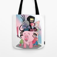 steven universe Tote Bags featuring Steven Universe by Laura Pulido