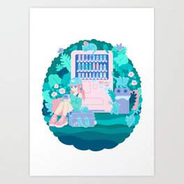 Cats Vending Art Print