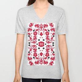 Bloody Blossoms Unisex V-Neck