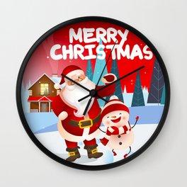 merry christmas santa Wall Clock