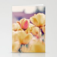 tulips Stationery Cards featuring Tulips by elle moss