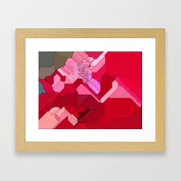 Red Abstract from a Geranium Framed Art Print