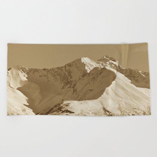 Majestic Mt - Sepia Beach Towel
