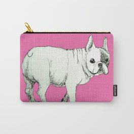 Frenchie on Pink Carry-All Pouch