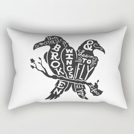 Blackbirds Singing Rectangular Pillow