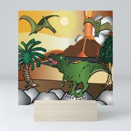 Dinosaur world T-Rex Tyrannosaurus by Beebus Marble Mini Art Print