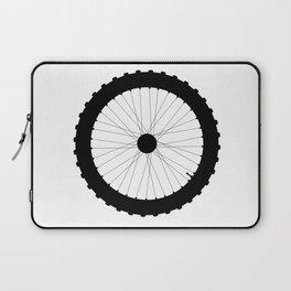 Bicycle Wheel Silhouette Laptop Sleeve