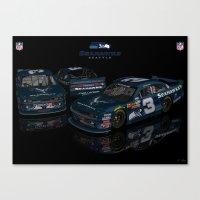 seahawks Canvas Prints featuring Seattle Seahawks NASCAR by ernhrtfan