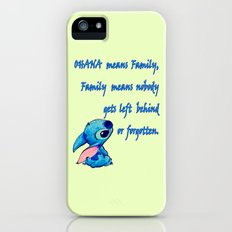 Lilo & Stitch - Ohana Quote iPhone (5, 5s) Slim Case