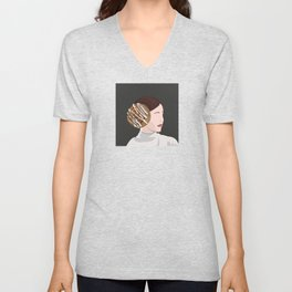 Princess With Cinnamon Roll Buns Unisex V-Neck