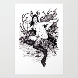 Wanted Succubus Demon Original Artwork Print