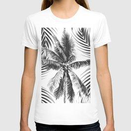 South Pacific palms II - bw T-shirt
