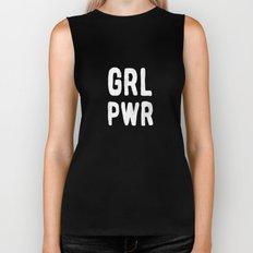 GRL PWR (pink) Biker Tank