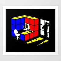 Rubix Cubicle Art Print