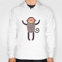monkey Hoodies featuring Monkey by Anna Alekseeva kostolom3000