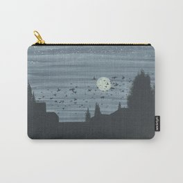 Moonlight with Birds Carry-All Pouch