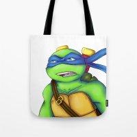 leonardo Tote Bags featuring Leonardo by Savanity