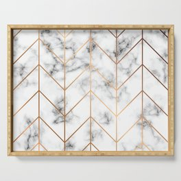 Marble Geometry 057 Serving Tray