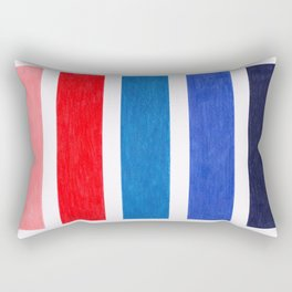 Colorful Red and Blue Geometric Pattern Rectangular Pillow