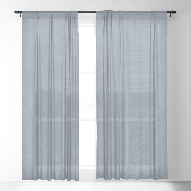 Light Slate Gray Marks Sheer Curtain By