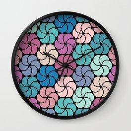 Geometric flowers pattern Wall Clock