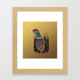 Pheasant Totem Framed Art Print