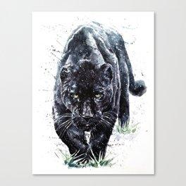 Panther watercolor painting predator animals puma jaguar Canvas Print