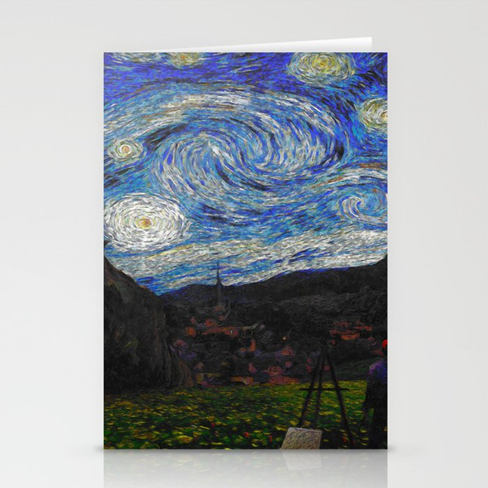 Vincent Van Gogh Under his Starry Night Wall Art Poster, Painting ...