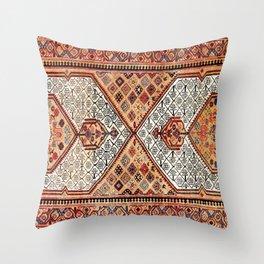 Songhor Hamadan West Persian Kelleh Rug Print Throw Pillow