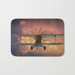 Loud Planes Fly Low Bath Mat