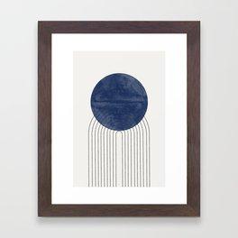 Blue Sun Framed Art Print