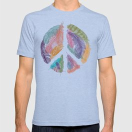 Feathers for Peace (Peace Sign) T-shirt