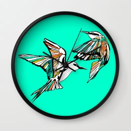 Dancing Rainbow Bee Eater Birds Wall Clock