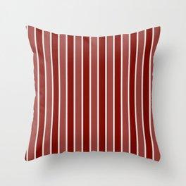 Vintage New England Shaker Village Milk Paint Barn Red Large Vertical Bedding Stripe Throw Pillow
