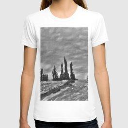 Lavender fields through a memory T-shirt