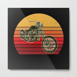 Retro Vintage Chopper Gift Idea Design Motif Metal Print