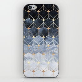 Blue Hexagons And Diamonds iPhone Skin