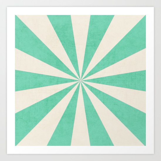 mint starburst Art Print