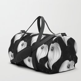 Calla Lily in Black and White Duffle Bag