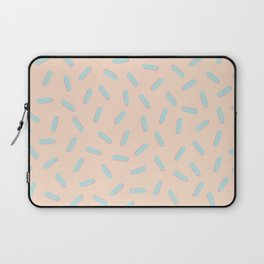 Memphis Bacteria Pattern Pastel Colors Peach Baby Blue Laptop Sleeve