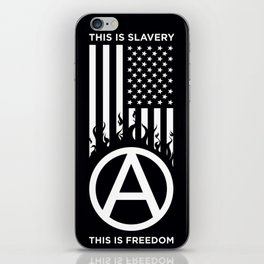 Anrchy is freedom iPhone Skin