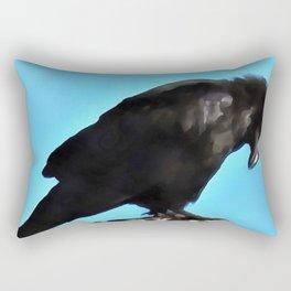 Summer Raven Rectangular Pillow