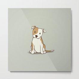 Staffordshire Bull Terrier Dog Illustration Metal Print