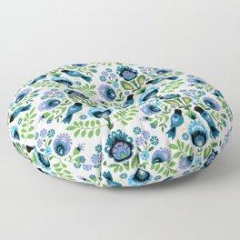 Polish Folk Birds Floor Pillow