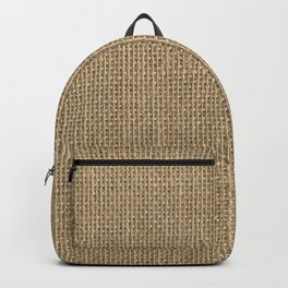 Natural Woven Beige Burlap Sack Cloth Backpack
