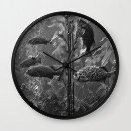 fish charcoal Wall Clock