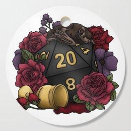 Vampire D20 Tabletop RPG Gaming Dice Cutting Board